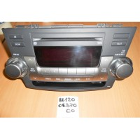 Магнитола Toyota Highlander Б/У 861200E370C0